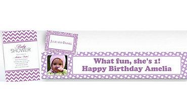 Lavender Custom Invitations & Banners