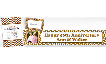 Gold Custom Invitations & Banners
