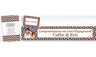 Chocolate Brown Custom Invitations & Banners