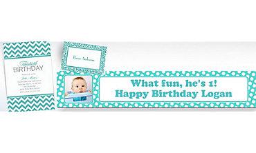 Robin's Egg Blue Custom Invitations & Banners