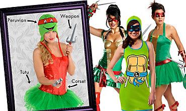 Teenage Mutant Ninja Turtles Women's Looks
