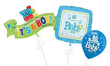 Boy Welcome Baby Balloons - Blue Little One