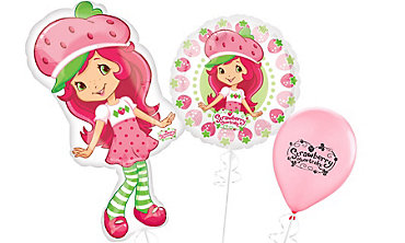 Strawberry Shortcake Themed Balloons