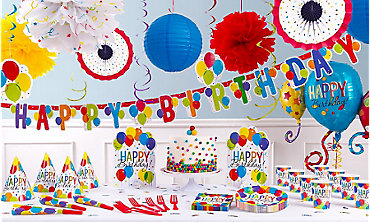 Rainbow Balloon Bash Birthday Party Supplies