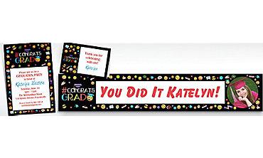 Custom Smiley Graduation Invitations & Thank You Notes