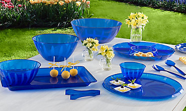Royal Blue Serving Trays, Bowls & Utensils