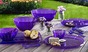 Purple Serving Trays, Bowls & Utensils