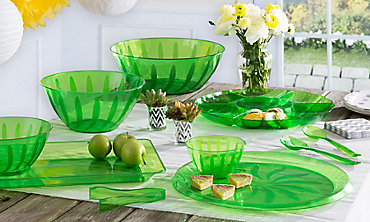 Kiwi Serving Trays, Bowls & Utensils
