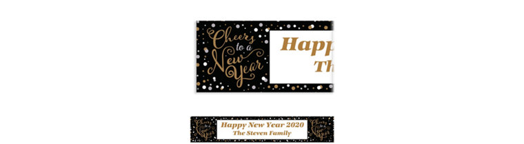 Custom Confetti Celebration Banner
