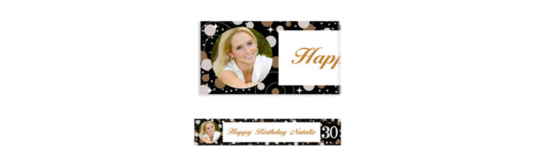 Custom Sparkling Celebration 30 Photo Banner