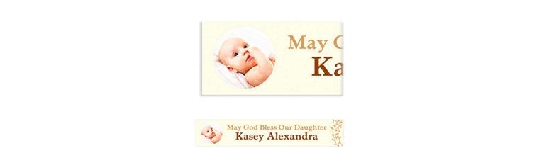 Custom Baptism Wreath Photo Banner