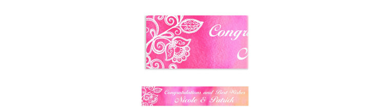 Custom Ombre Floral Warm Banner