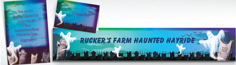 Custom Mostly Ghostly Halloween Invitations & Thank You Notes