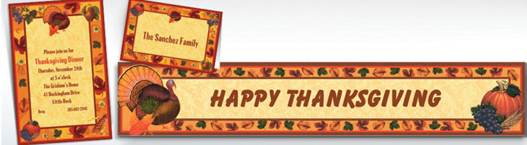 Custom Thanksgiving Scrapbook Invitations & Thank You Notes