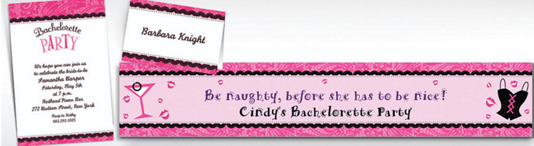 Custom Bachelorette Party Invitations & Thank You Notes