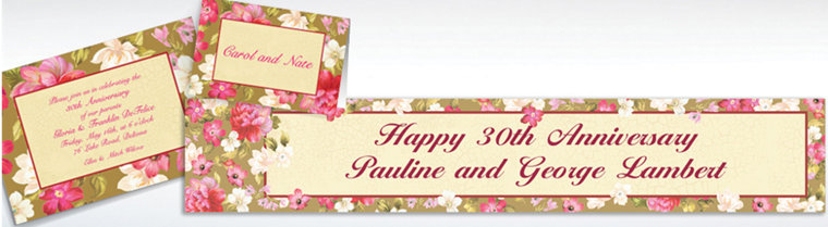 Custom Elegant Bouquet Invitations & Thank You Notes
