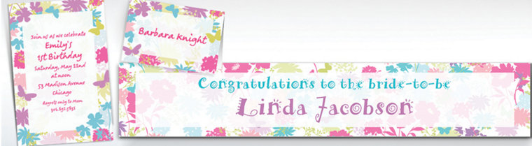 Custom Spring Silhouettes Invitations & Thank You Notes