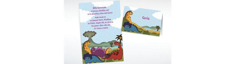 Custom Dinosaurs Invitations & Thank You Notes
