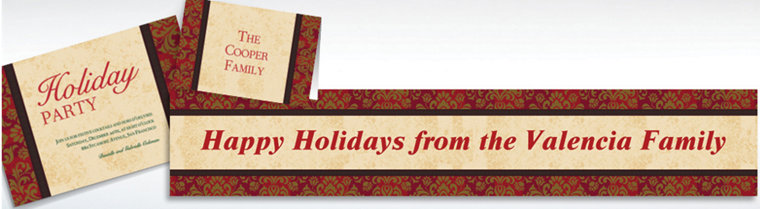 Custom Holiday Style Invitations & Thank You Notes