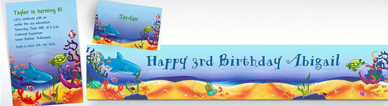 Custom Deep Sea Fun Invitations & Thank You Notes