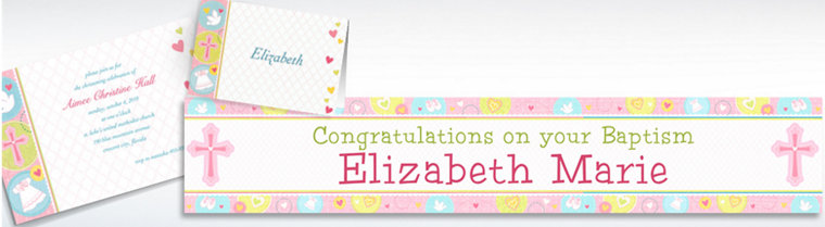 Custom Sweet Christening Girl Invitations & Thank You Notes