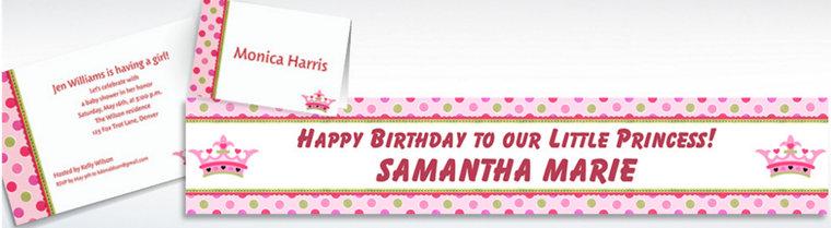 custom little princess baby shower invitations thank you notes - Baby Shower Invitations Party City