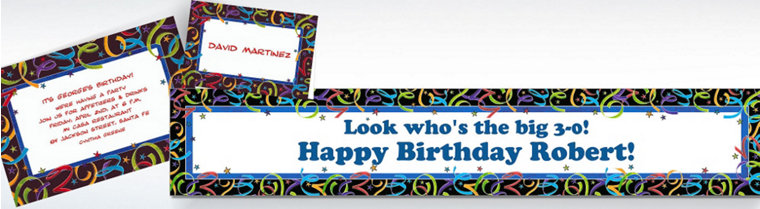 Custom Happy Birthday Invitations & Thank You Notes