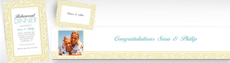 Custom Vanilla Wedding Invitations & Thank You Notes