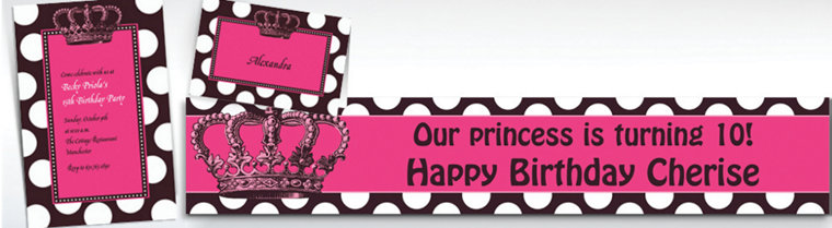 Custom Rocker Princess Invitations, Thank You Notes & Banners