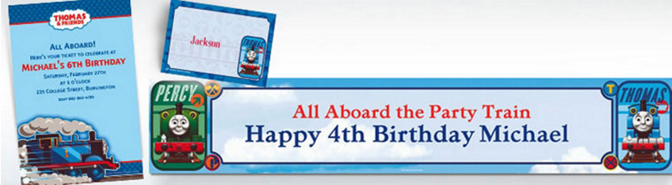Custom Thomas the Tank Engine Invitations & Thank You Notes