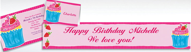 Custom Sweet Treat Invitations, Thank You Notes & Banners