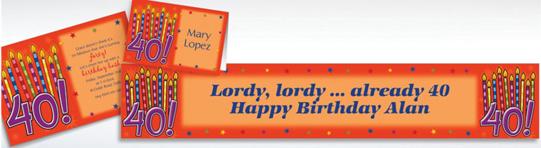 Custom Great Birthday 40th Invitations