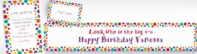 Custom Party Birthday Invitations & Thank You Notes