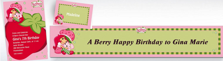 Custom Strawberry Shortcake Invitations & Thank You Notes