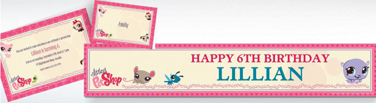 Custom Littlest Pet Shop Invitations & Thank You Notes