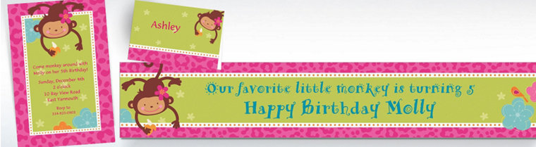 Custom Monkey Love Invitations & Thank You Notes