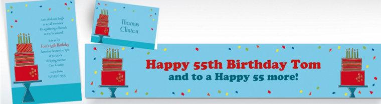 Custom Fetching Birthday Cake Invitations & Thank You Notes