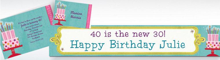 Custom Sweet Stuff Birthday Invitations & Thank You Notes