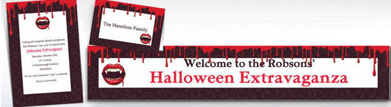 Custom Fangtastic Halloween Invitations & Thank You Notes