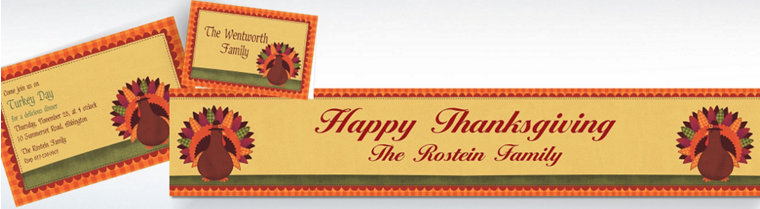 Custom Thanksgiving Invitations & Thank You Notes