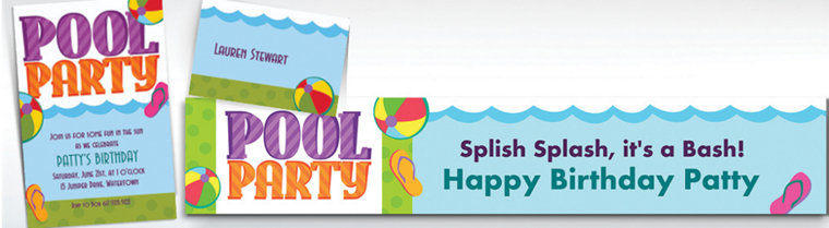 Custom Pool Party! Invitations & Thank You Notes