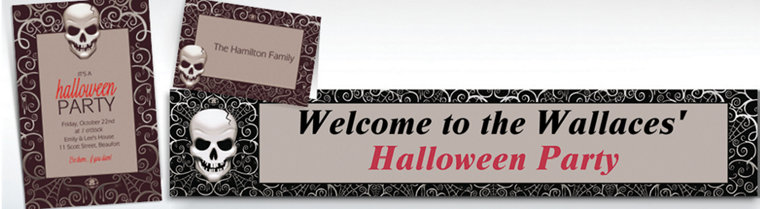 Custom Fright Night Halloween Invitations & Thank You Notes