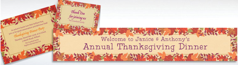 Custom Festive Fall Invitations & Thank You Notes
