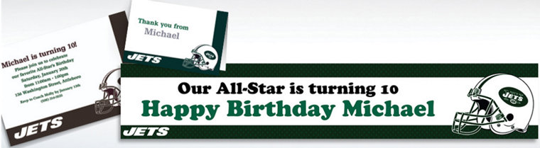 Custom New York Jets Invitations & Thank You Notes