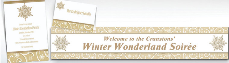 Custom Shimmering Snowflake Invitations & Thank You Notes