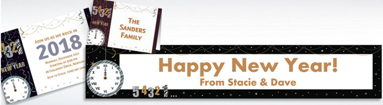 Custom Wild Countdown New Year's Invitations & Thank You Notes