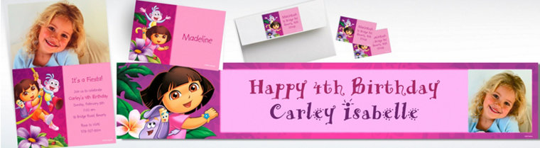 Custom Dora Invitations & Thank You Notes