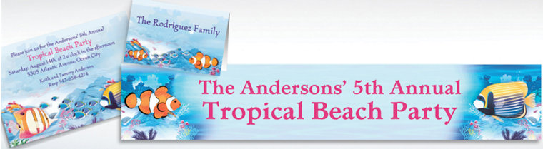 Custom Tropical Summer Invitations & Thank You Notes