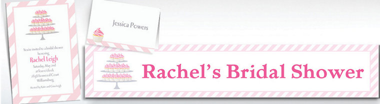 Custom Cake of Cupcakes Bridal Shower Invitations & Thank You Notes