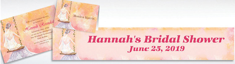 Custom Bridal Swing Bridal Shower Invitations & Thank You Notes